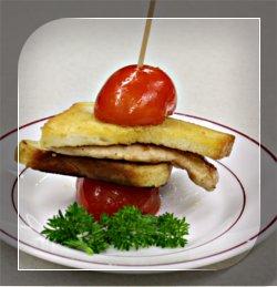 Hühnerbrust-Tomaten-Spieß