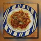 Spaghetti mit vegetarischen Frikadellen und Tomatensoße